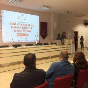 Nisan 2019 / Yeni Zamanlar ve Halkla İlişkiler Açılış Konuşması / Sibel Asna